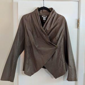Genuine Leather Wrap Jacket